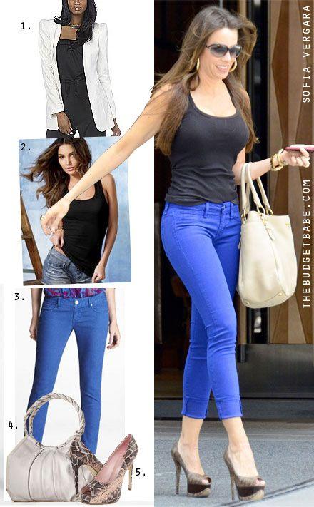 Dress by Number: Sofia Vergara's Cobalt Jeans and Python Platforms