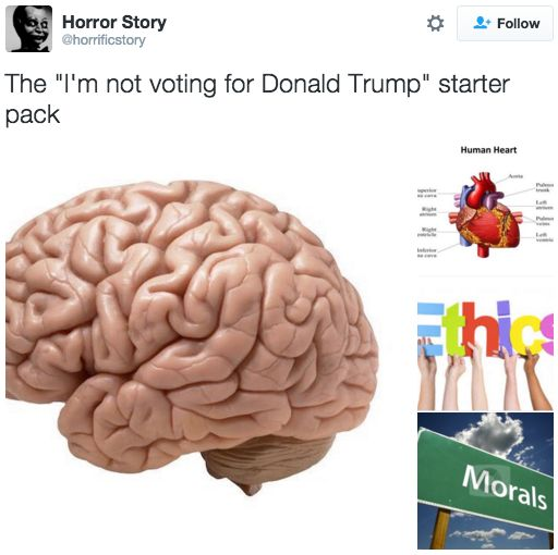 This very simple starter pack:   24 Tweets About Donald Trump That Will Make You Want To Move To Canada