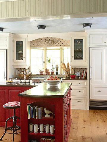 Budget kitchen remodeling 20 000 or higher kitchens for Country kitchen remodel on a budget