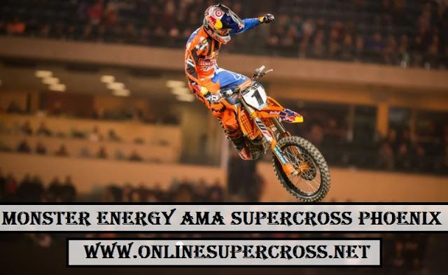 Watch [AMA Supercross] [Phoenix] Round 4] 2018  RACE NAME :- AMA Supercross Event Name :- Phoenix Supercross Venue :- University of Phoenix Stadium, Glendale, AZ Race Date :- Saturday 27th January 2018