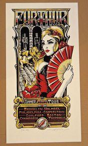 FURTHUR - GRATEFUL DEAD - SUMMER TOUR POSTER 2013 - AJ MASTHAY - LESH - BOB WEIR