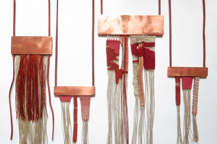 New Weave work, made from recycled yarn, copper and leather- https://www.facebook.com/LoricaApparel