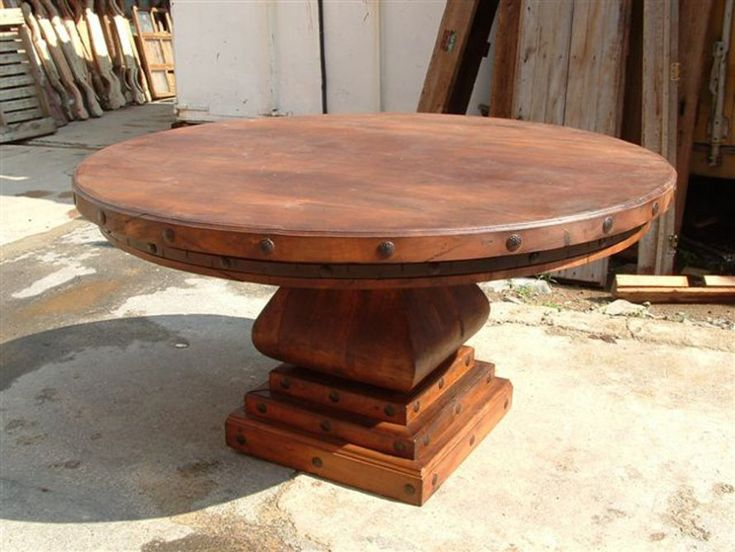 Round Mesquite Table By The Rustic Gallery Of San Antonio, TX #table # Furniture. Rustic Wood Dining TableDining Room ...