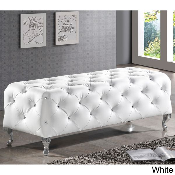 Baxton Studio Stella Crystal Tufted Modern Bench | Overstock.com Shopping - The Best Deals on Benches