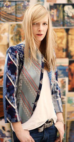 Sarah Burton, Creative Director at Alexander McQueen. Creator of Kate's Royal Dress. I love her coat.