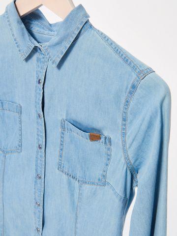 Jeansowa koszula na napy