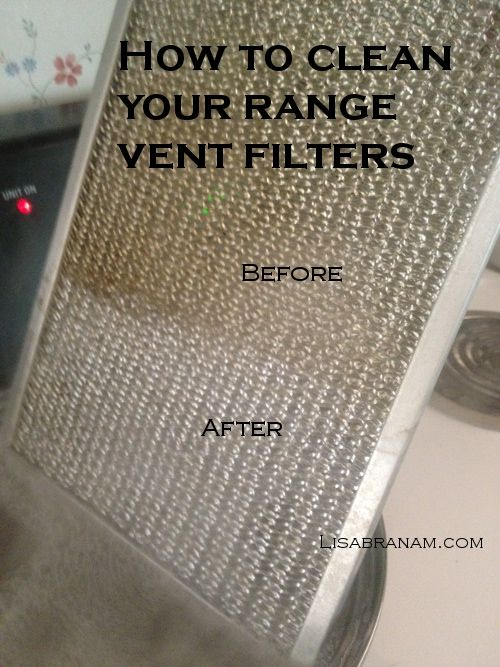 How to Clean your Range Vent Filters- So Easy - A Little Slice