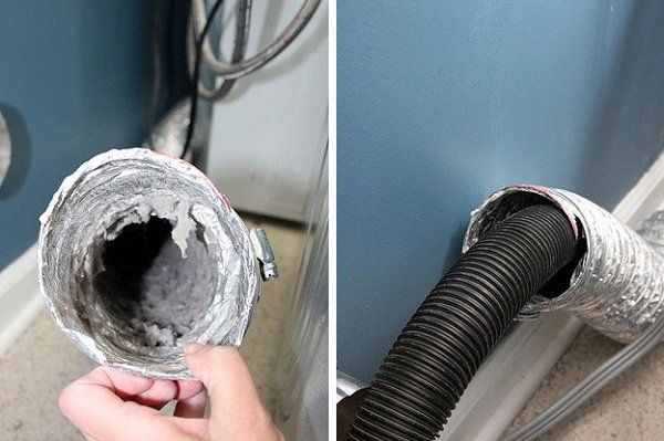 Get lint out of your dryer exhaust tube with a vacuum cleaner and prevent fire hazards.