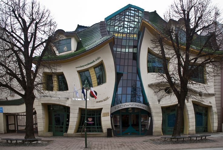 The Crooked House in Sopot, Poland