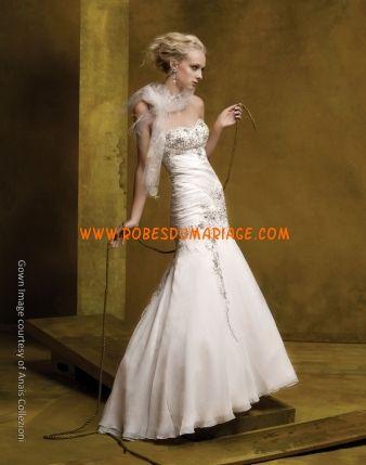 Anaest Collezioni by St. Pucchi robe de mariée originale sirène ornée appliques mousseline Style AN128