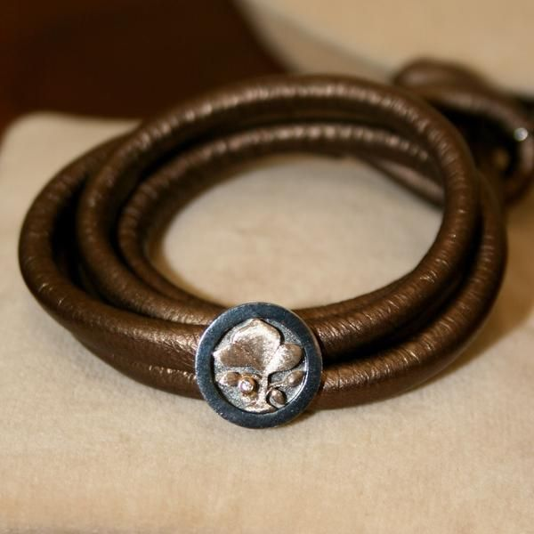 Ole Lynggaard Contemporary Silver Jewellery Capsule - Metallic Leather Bracelet & Tree of Life Charm-Buy on 3mth subscription