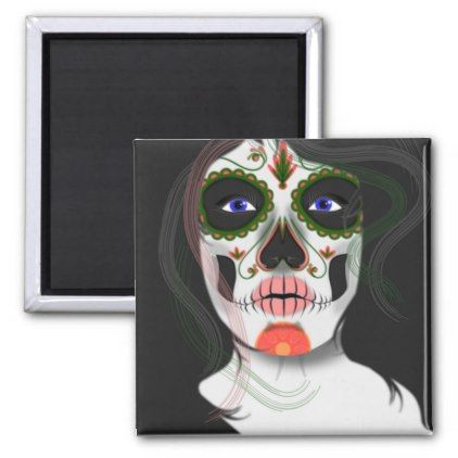 Mexican Halloween Mask Fridge Magnet - diy cyo customize create your own personalize