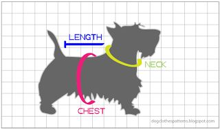 Free Dog Clothes Patterns: How to measure your dog for clothing