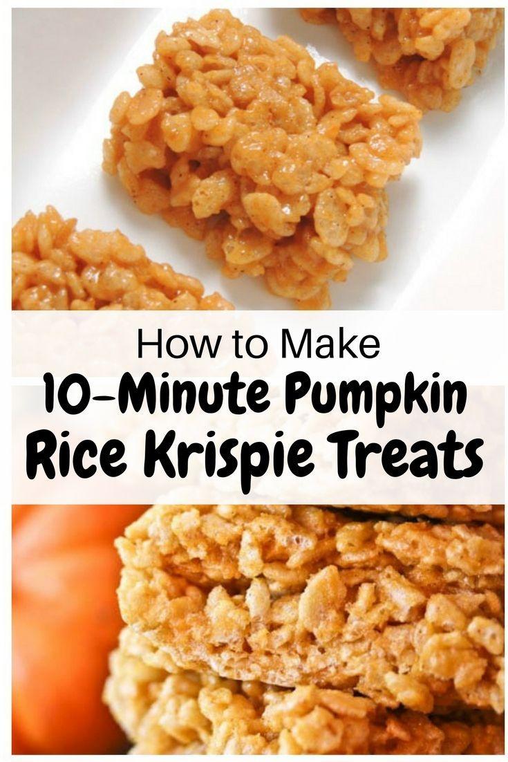 How to Make 10-Minute Pumpkin Rice Krispie Treats…