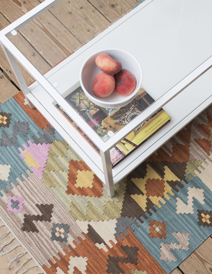 Geometric rag rug from Skandihome.com