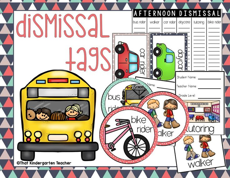 These dismissal tags will help you stay organized when scrambling to send your kiddos home. There are six modes of transportation: bus rider, car rider, walker, daycare, tutoring and bike rider.