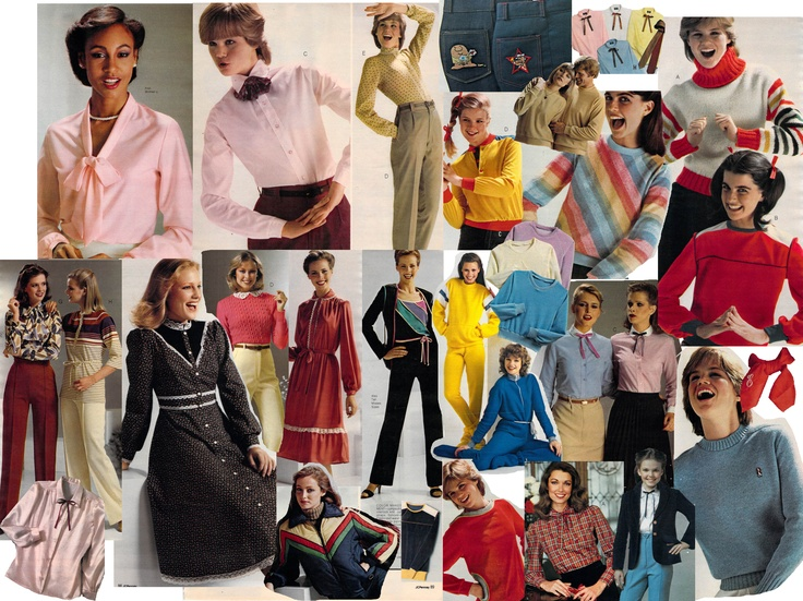 1980 adult casual wear