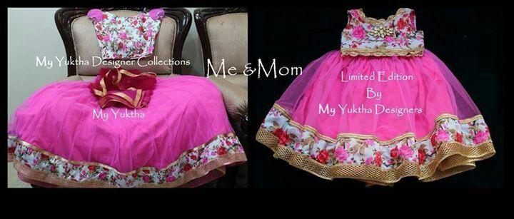 Mother and daughter matching lehanga set for weddings and sangeeth.