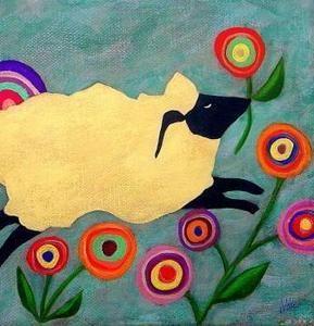 "FOLK ARTIST JOHN BLAKE. HERE IS HIS ""SKIPPY--THE HAPPY SPRING SHEEP"""