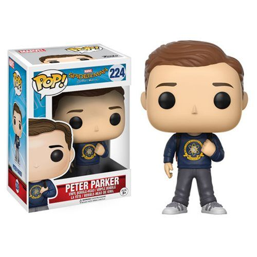 (affiliate link)  Spider-Man: Homecoming Peter Parker Pop! Vinyl Figure