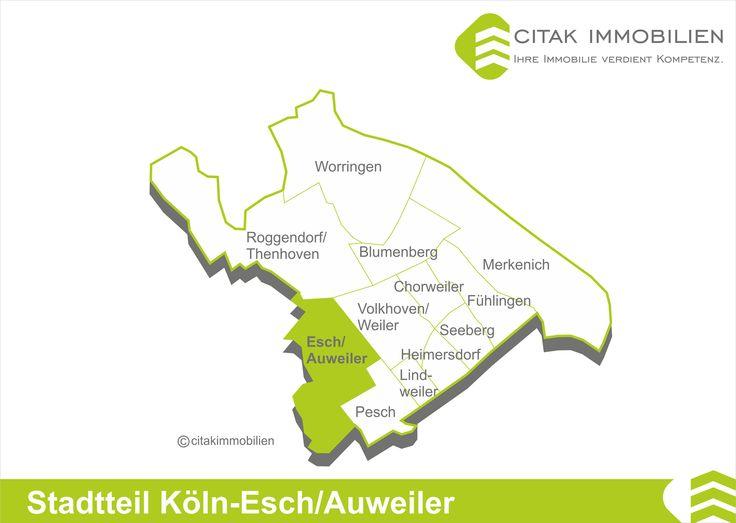 Stadtteil Köln-Esch/Auweiler Aus den Dörfern Auweiler und Esch, nordwestlich in Köln gelegen, entstand der Stadtteil Esch/Auweiler im Stadtbezirk Chorweiler. Die Nachbarstadtteile sind Pesch, Roggendorf/Thenhoven und Volkhoven/Weiler.