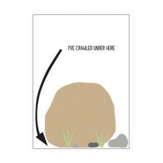 I just crawled under a rock! Greeting Card R.Nicolls