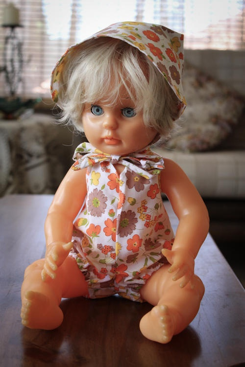 Our first love doll had knitted, crocheted and sewn clothes all made by me - very proud of that and we still have most of them.
