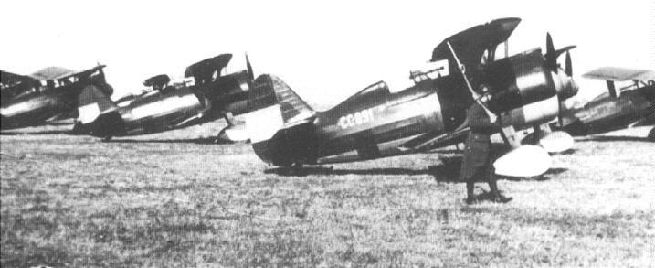Polikarpov I-15bis Superchato de la Aviación republicana, con el código CC-091.