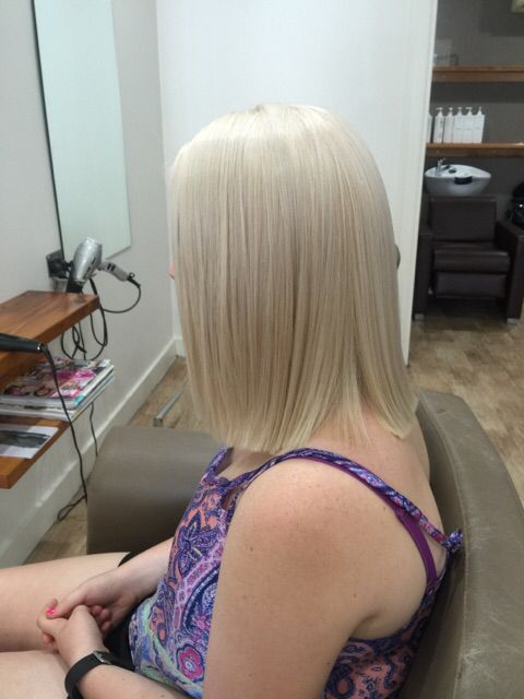 Scalp bleach and tone done by Cindy.