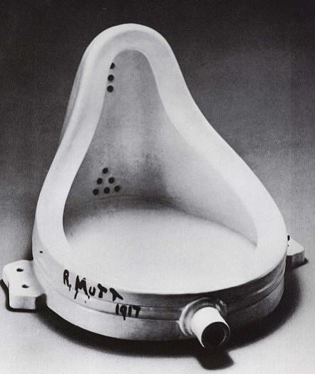 R Mutt 1917.  Marcel Duchamp