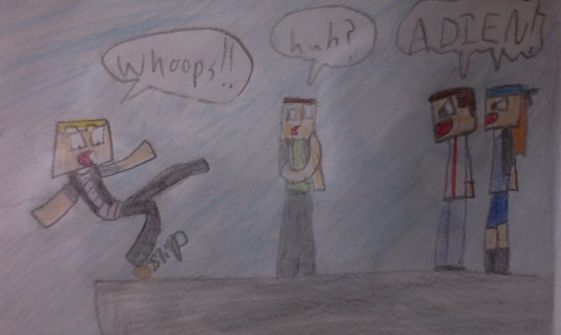 Clear Adiens name! :) jk i hate him, haha #minecraftstorymodecomic