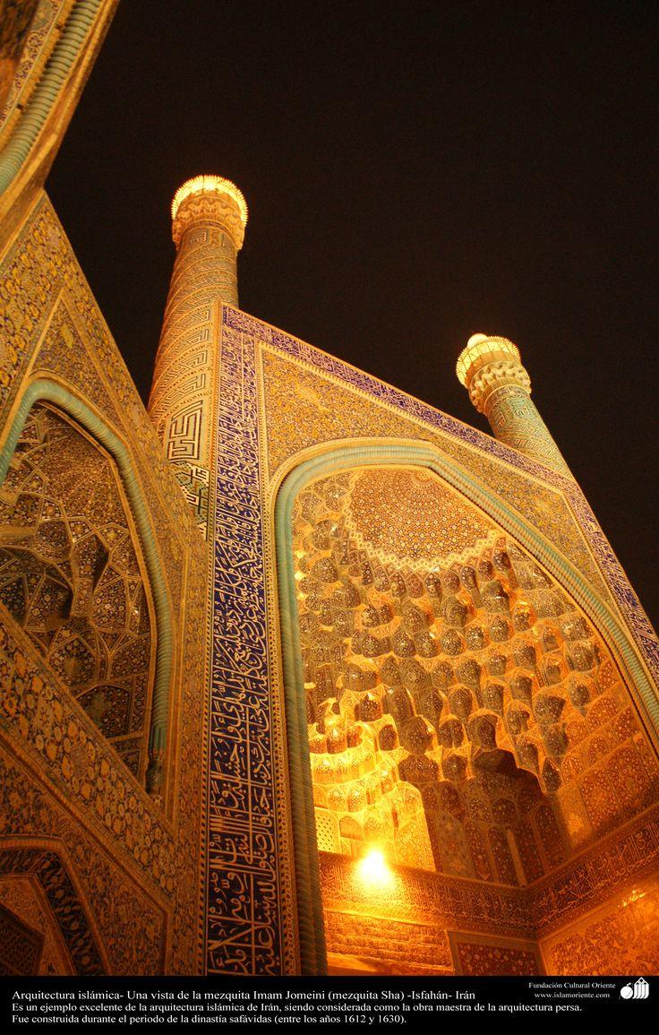 Arquitectura islámica- Una vista de la mezquita Imam Jomeini (mezquita Sha) -Isfahán - 7 | Galería de Arte Islámico y Fotografía Más