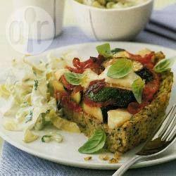Pesto-rijsttaart met mozzarella @ allrecipes.nl
