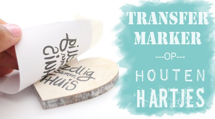 Karin Joan: Transfermarker op houten hartjes