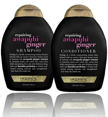 Organix Awapuhi Ginger Shampoo & Conditioner Review