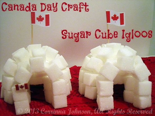 Canada Day Craft: Sugar Cube Igloos