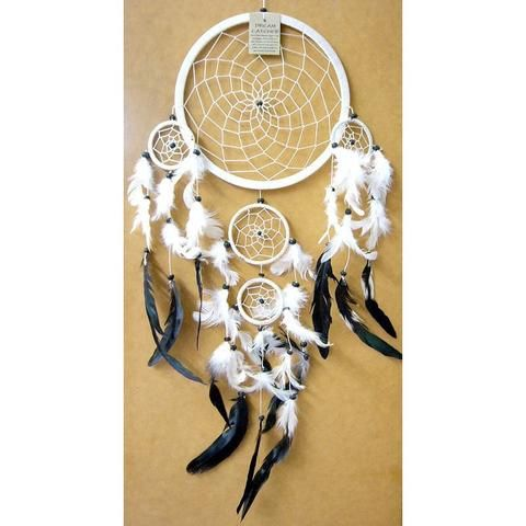 White Dream Catcher - Traditional - The Hippie House