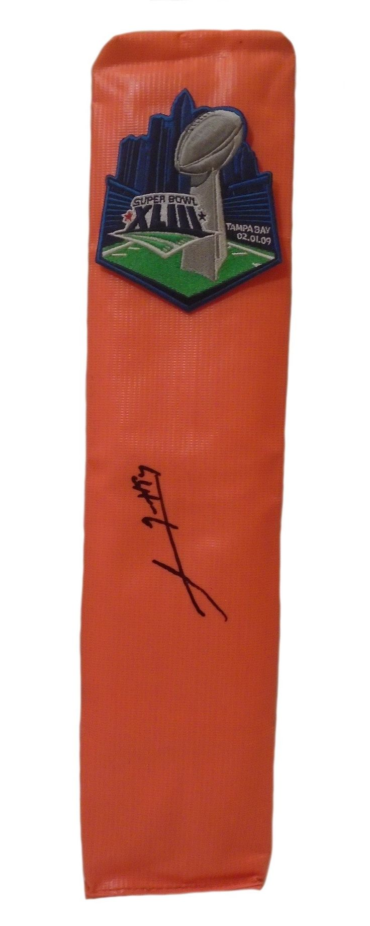 Lawrence Timmons Autographed Pittsburgh Steelers Super Bowl XLIII Full Size Football End. This is a brand-new custom Lawrence Timmons signed Pittsburgh Steelers Super Bowl XLIII full size football end zone pylon.  This pylon measures 4 inches (Width)  X 4 inches (Length) X 18 inches (Height).  Lawrence signed the pylon in black sharpie. Check out the photo of Lawrence signing for us. ** Proof photo is included for free with purchase. Please click on images to enlarge. Please browse our…