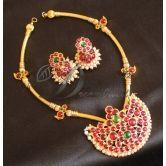Lovely Temple Design Hand Made Kemp Necklace Set-dj0400