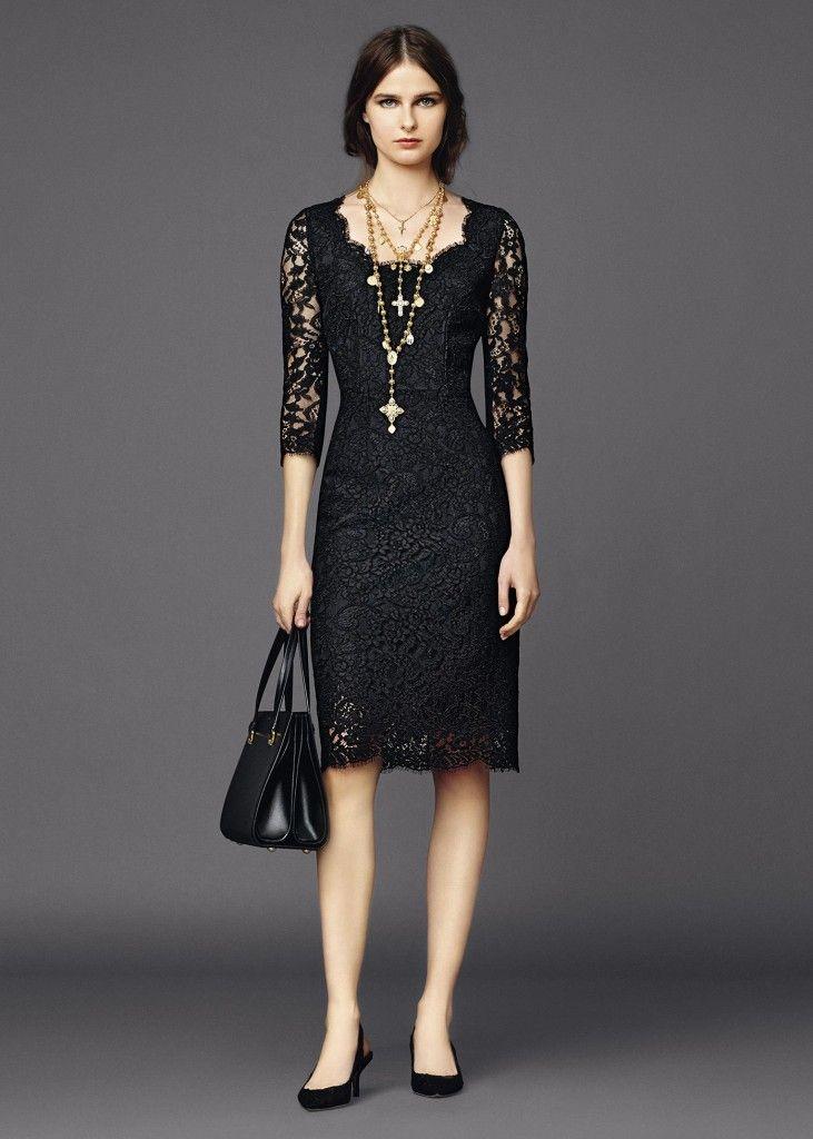 Black lace dress (Dolce Gabbana summer 2015)
