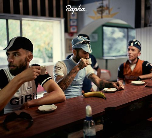 Target consumer - road bikers.  Road biking and awesome boutique coffee shops go hand in hand