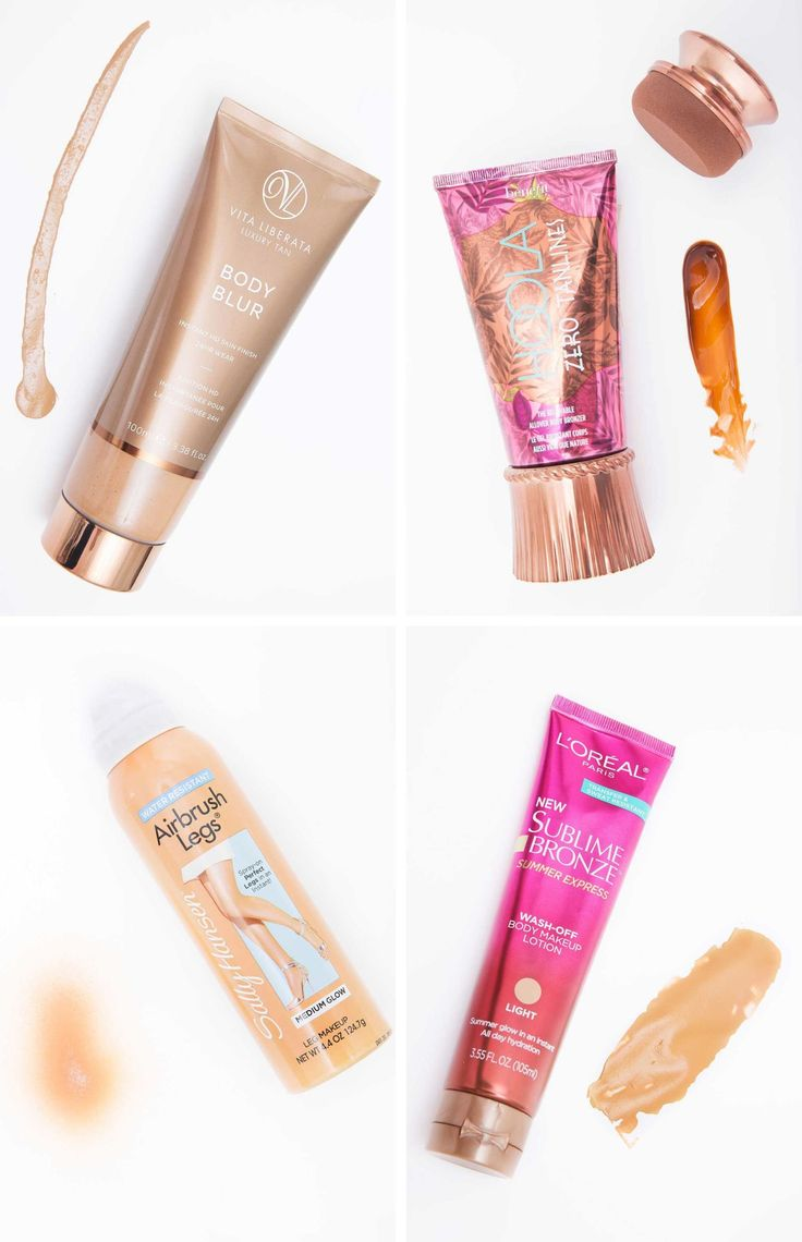 16. If self-tanner intimidates you, try body makeup that washes off.