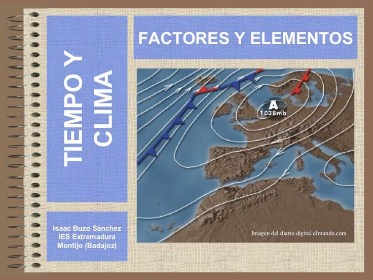 elementos-factores-clima by Isaac Buzo via Slideshare