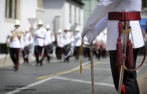At the Ceremonial Guard Mount, outside His Excellency the Gibraltar Governors Residence.