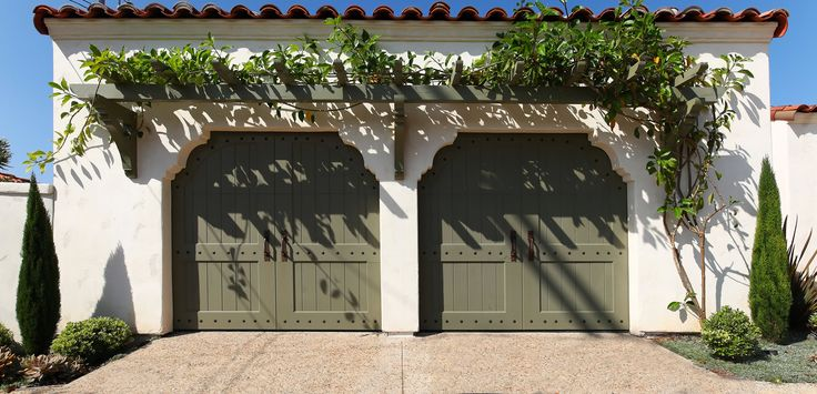 Garage Doors from Stunning Spanish-Style Home with Magnificent Views in La Jolla, CA (Sold for $1,293,000)