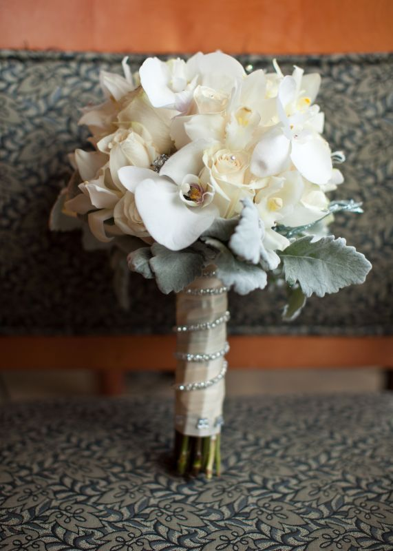 How to make your wedding bling - ideas and pix? :  wedding bling bling wedding winter wonderland Bouquet