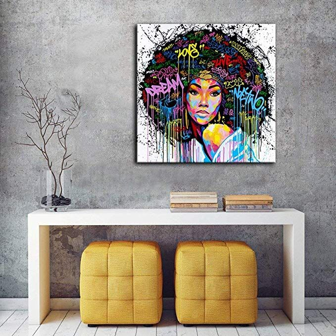 African American Canvas Bedroom Home Decor Decal Wall Art Canvas Painting Livi African Decor Living Room African Living Rooms Wall Decor Living Room Apartment