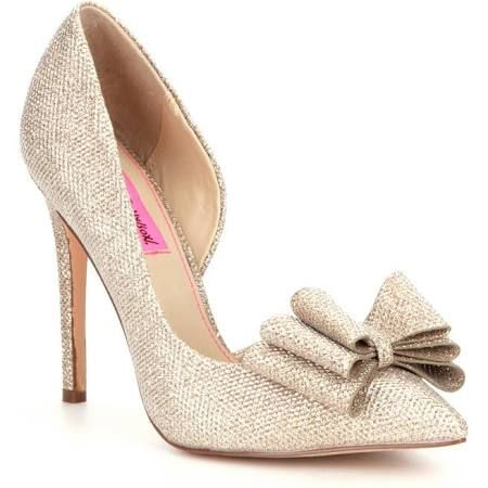 e241f380cef Betsey Johnson Prince D Orsay Evening Pumps - Gold 5.5M