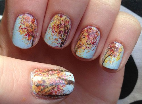 53 best fall nail art designs images on pinterest autumn nails fall nail art designs prinsesfo Image collections