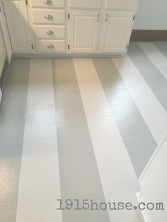 How to Paint Old Linoleum Kitchen Floors - 1915 House